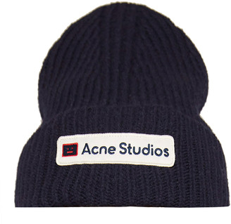 Acne Studios Kansas Logo Wool Beanie
