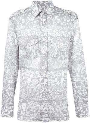 Vivienne Westwood Man chest pockets printed shirt