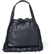 Polo Ralph Lauren Fringed Leather Sling Bag