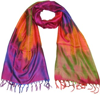 Pink Silk Scarf - Women's luxury paisley scarfs for ladies and girls - Beautiful Lovarzi pashminas