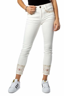 Desigual Woman Jeans Denim India 20swdd03 w30 White