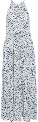 Diane von Furstenberg Sally Gathered Floral-print Crepe De Chine Maxi Dress