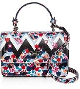 Salvatore Ferragamo Seila Mixed Print Leather Shoulder Bag