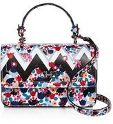 Salvatore Ferragamo Seila Mixed Print Leather Shoulder Bag