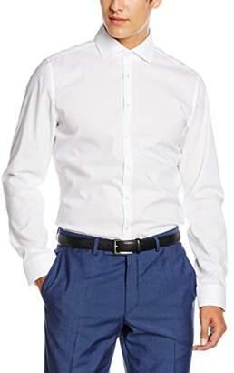 Seidensticker Men's Business Shirt Slim Fit - Iron-free, narrow shirt with Kent collar - Long Sleeve - 100% Cotton, ( 01), (Manufacturer's Size: 42)