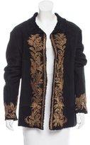 Roberto Cavalli Embellished Shearling Jacket