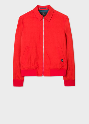 Paul Smith Men's Red Point Collar Bomber Jacket