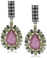 """Betsey Johnson Film Noir"""" Glitter Teardrop Drop Earrings"""