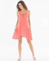Soma Intimates Lace Up Neck Cover Up Dress