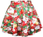 WINSON Cute Santa Claus Casual Loose Style Women Vogue Hot Pullover Sweater Skirt Set