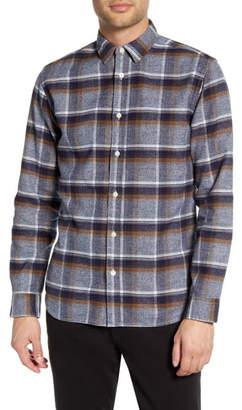 Selected Gunnar Niels Regular Fit Plaid Button-Up Flannel Shirt