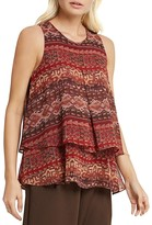 BCBGeneration Tapestry Print Tiered Tank