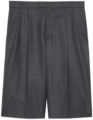 Gucci Wool grisaille Bermuda shorts