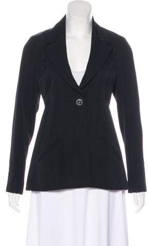 Chanel Structured Notch-Lapel Blazer