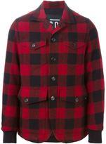 DSQUARED2 gingham cargo jacket - men - Cotton/Wool - 48