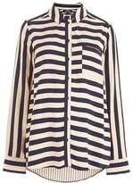 Maternity navy stripe shirt