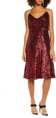 Dress the Population Zherra Sequin Midi Dress