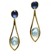 Mela Artisans Dewdrop in Blue/Aqua Earrings