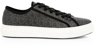 Salvatore Ferragamo Anson Logo Print Low-Top Sneakers