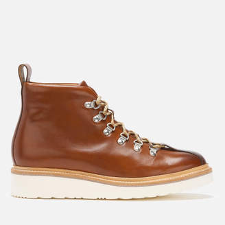 Grenson Men's Bobby Had Painted Leather Hiking Style Boots - Tan