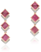 Monica Vinader Precious Ruby Baja Earrings