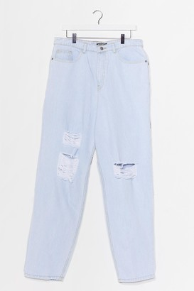 Nasty Gal Womens Because I Shred So Plus Distressed Jeans - White - 16