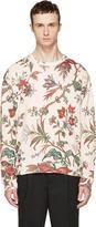 McQ by Alexander McQueen Beige Oversized Floral Sweatshirt