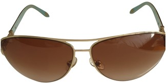 Tiffany & Co. Gold Metal Sunglasses