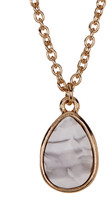Stephan & Co Semi-Precious Teardrop Pendant Necklace