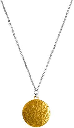 Gurhan 24K Gold Vermeil & Sterling Silver Hammered Disc Pendant Necklace