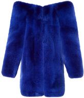 Saint Laurent Exaggerated-shoulder fox-fur coat