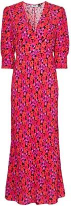 Rixo Zadie floral print midi dress
