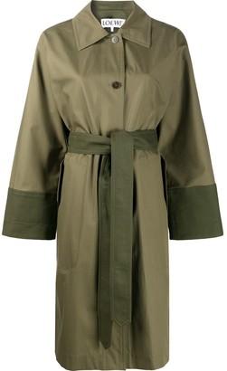 Loewe two-tone trench coat