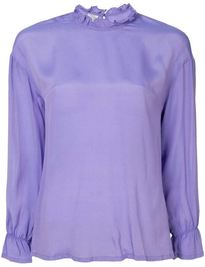 50d6c6d99c2d03 Purple Ruffle Blouse - ShopStyle
