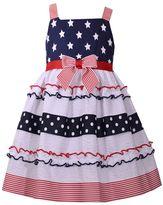 Bonnie Jean Girls 4-6x Americana Sleeveless Stars & Stripes Sundress