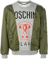 Moschino hybrid bomber sweatshirt