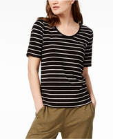 Eileen Fisher Tencel Striped Ribbed T-Shirt, Created for Macy's