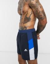 adidas Swim shorts with side stripe in navy