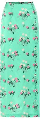 Bernadette Kelly floral stretch-silk skirt