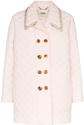 Fendi Quilted Double-Breasted Coat