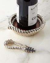 Michael Aram Rope Wine Coaster & Stopper Set