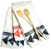 Flour Sack Towel with Fun Tribal Design