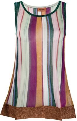 Missoni Striped Flared Sleeveless Jumper