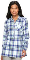 Croft & Barrow Women's Flannel Plaid Tunic
