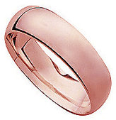 18ct Rose Gold Super Heavy 6mm Court Ring