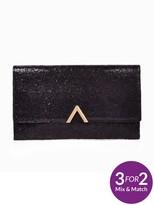 Very Metal V Bar Tinsel Clutch Bag