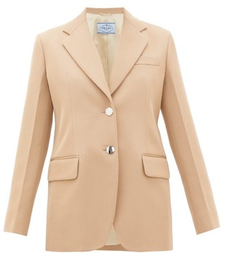 Prada Single-breasted Virgin-wool Gabardine Blazer - Beige