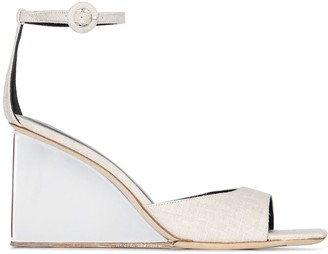 BY FAR Dima 95 perspex wedge sandals