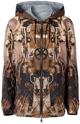 Burberry Reversible Submarine Print Nylon Hooded Jacket