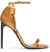 Tom Ford Python Sandals - Gold